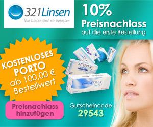10% auf alle Kontaktlinsen bei 321linsen