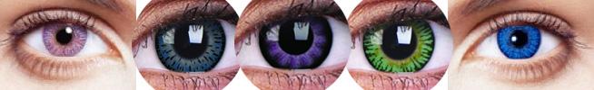 Beispiel für farbige Kontaktlinsen