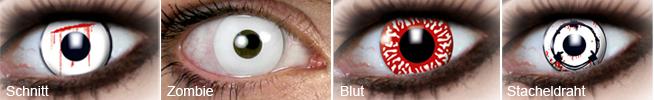 Kontaktlinsen für Halloween
