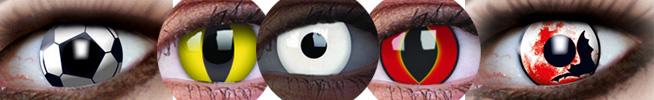 Beispiele für Motivlinsen für Fasching und Karneval
