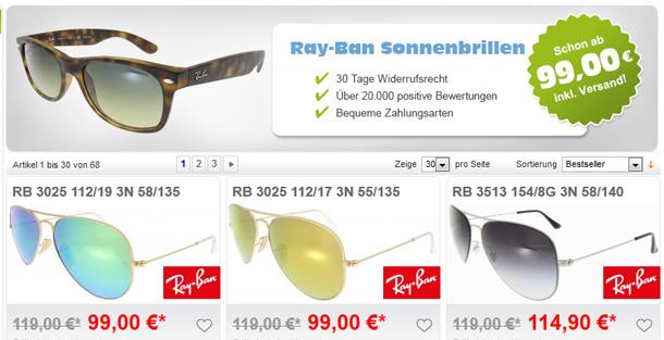 Große Ray-Ben Auswahl bei my-Spexx.de