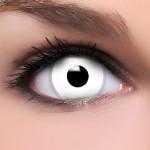 Halloween Kontaktlinse WHITE ZOMBIE