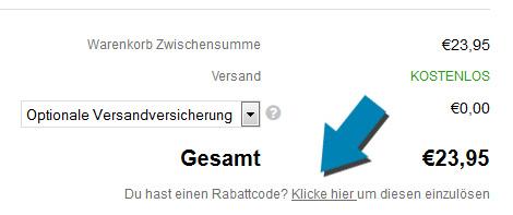 Rabattcode einlösen bei Smartbuyglasses.de