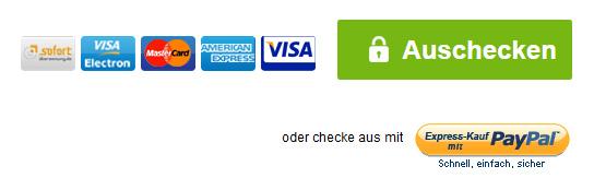 Zahlungsoptionen bei Smartbuyglasses, zahlen mit Paypal möglich