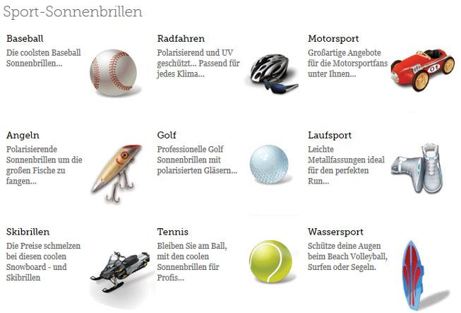 Große Auswahl an Sportbrillen bei SmartBuyGlasses.de