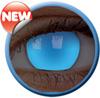 Glow Electric Blue Kontaktlinse