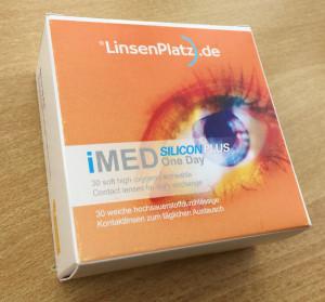 Verpackung der imed SILICON Plus One Day von LinsenPlatz.de