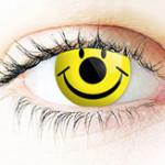 Smiley Kontaktlinse für Karneval