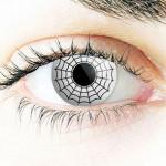 Spinnennetz-Kontaktlinse zu Fasching