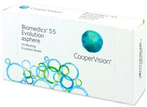 Kontaktlinse Biomedics 55 evolution von CooperVision