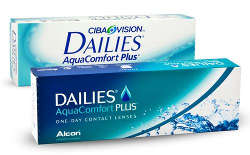 Alte und neue Verpackung der Dailies AquaComfort Plus Tageslinse