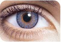 Beispiel einer farbigen Tageslinse mit Stärke