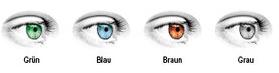 Wählbare Farben der ColorLook Style Tageslinse