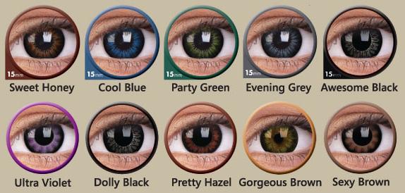 Farb- und Größenauswahl der ColourVue Big Eyes