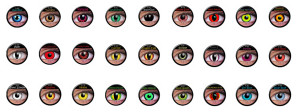 Motivlinsen der ColourVUE Funny Lens bzw. Crazy Lens Serie