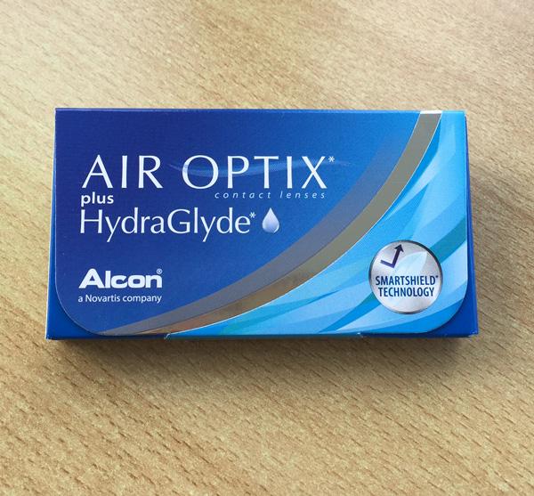 Verpackung der Air Optix plus Hydraglyde