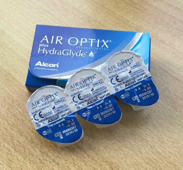 Verpackung & Einzelpackungen (Blister) der Air Optix plus HydraGlyde