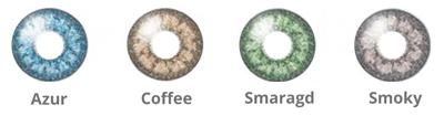 Wählbare Farben der 1Day Bi-Color Tageslinse