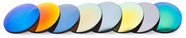 Wählbare Sonnenbrillen-Glasfarben bei Topglas