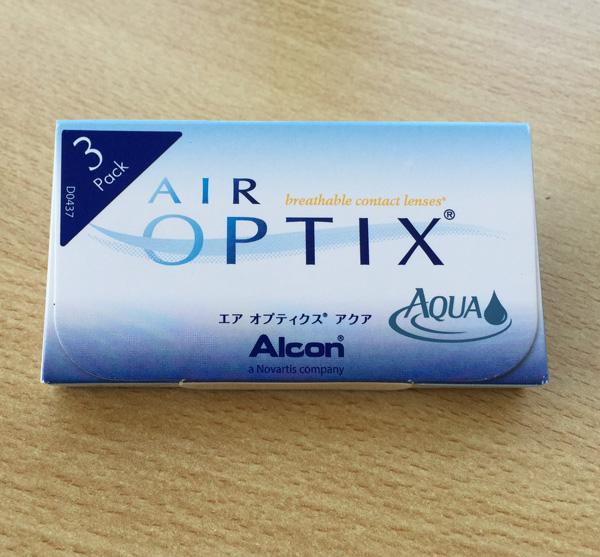 Die Verpackung der Air Optix Aqua