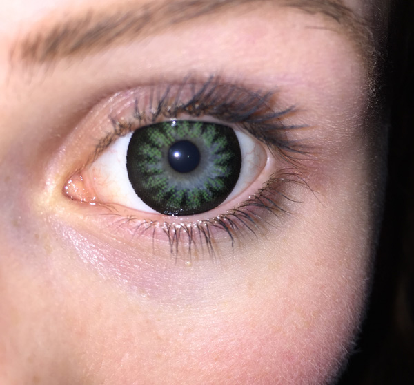 Nahaufnahme der grünen Images Big Eyes
