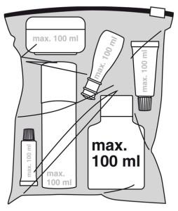 Kontaktlinsenfluessigkeit im Handgepäck