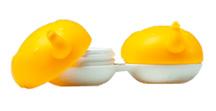 Kontaktlinsenbehälter gelber Elefant