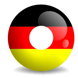 Deutschland Kontaktlinsen in schwarz-rot-gold