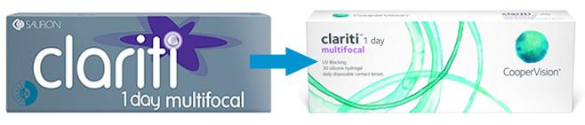 Neue Verpackung der Clariti 1 day multifocal