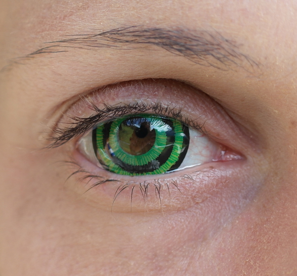 Green Goblin ColorVUE Mini-Sclera im Auge
