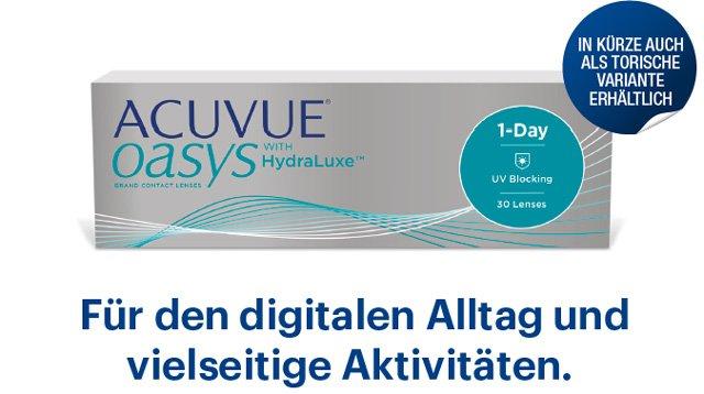 Neu in Deutschland: Die ACUVUE oasys 1-Day
