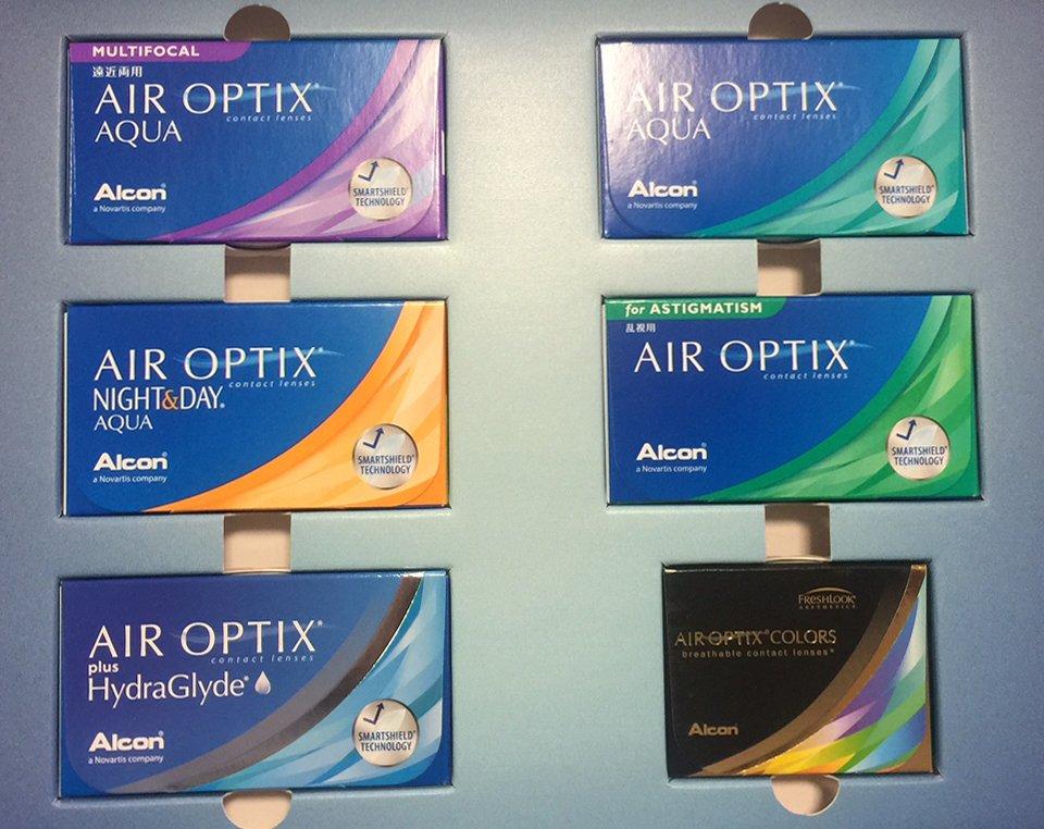 Die neuen Kontaktlinsenboxen der AIR OPTIX Serie