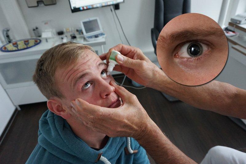 Femto-LASIK Voruntersuchung: Pupillen-Erweiterung für die anschließende (objektive) Refraktions-Messung