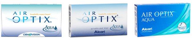 Die verschiedenen Boxendesigns der Air Optix Aqua