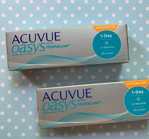 Umverpackung der Acuvue Oasys 1 Day for Astigmatism